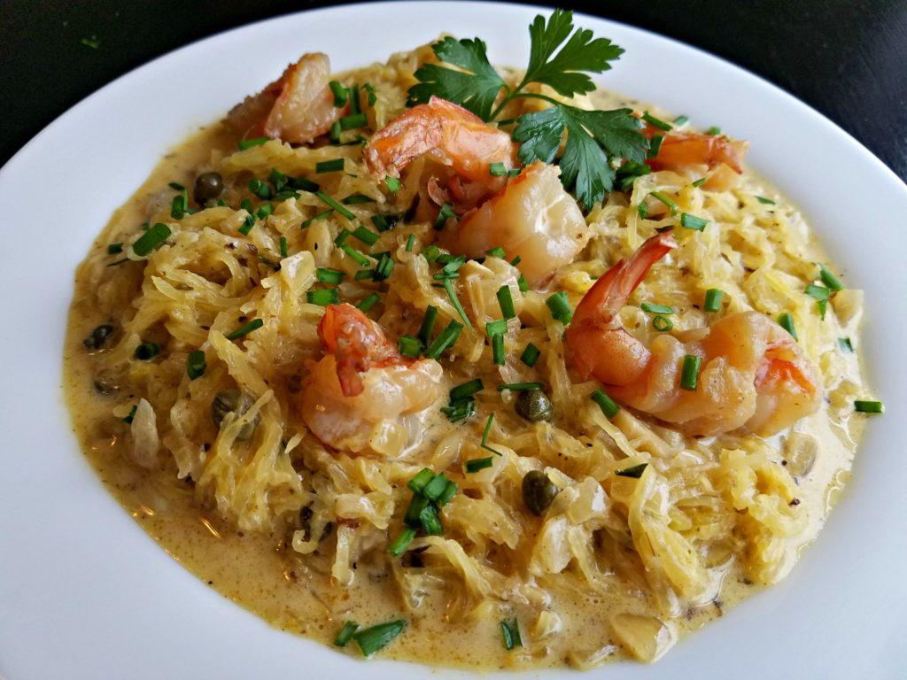 Spaghetti Squash Shrimp Scampi…Meemaw's Version