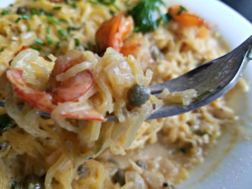 Spaghetti Squash Scampi | Meemaw Eats