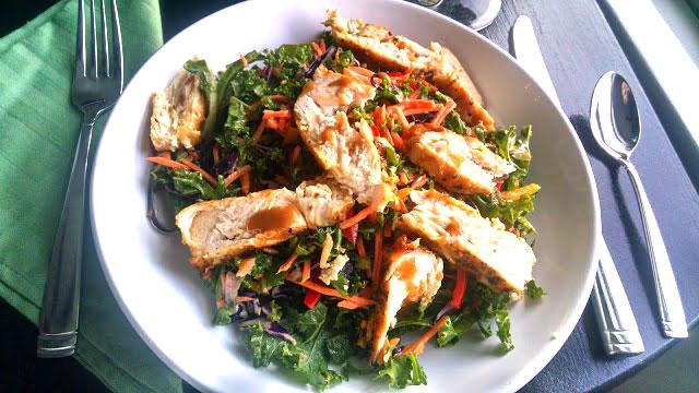 Asian Kale Chicken Salad