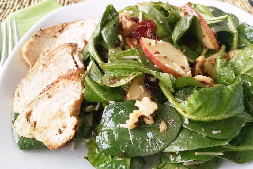 Honey Balsamic Harvest Salad with Grilled Chicken