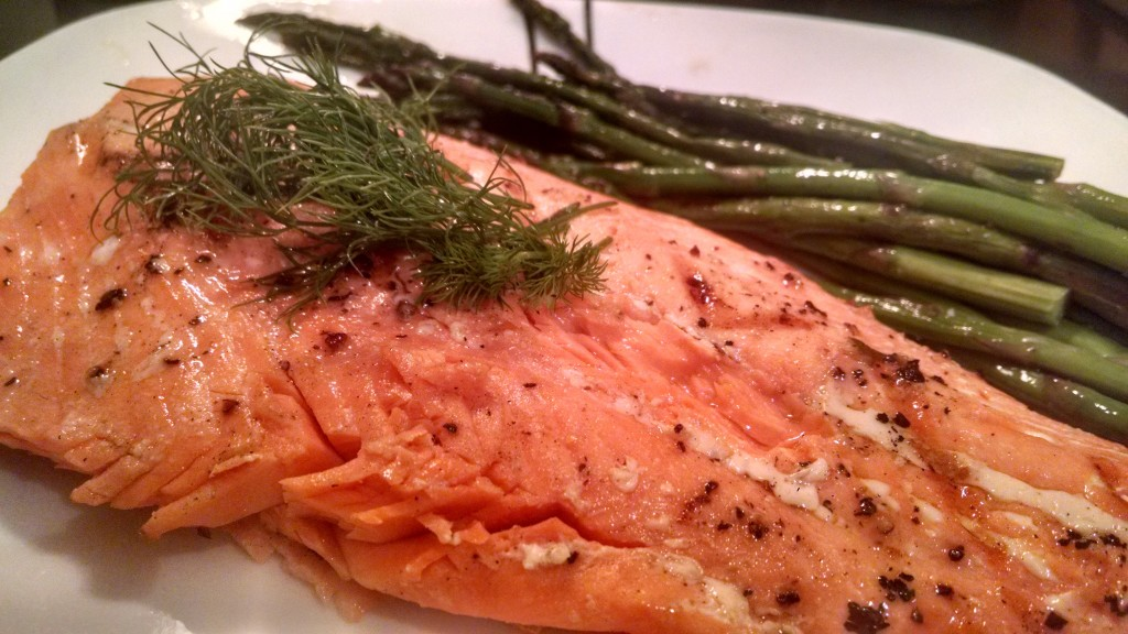 Grilled Salmon With Horseradish Dill Sauce