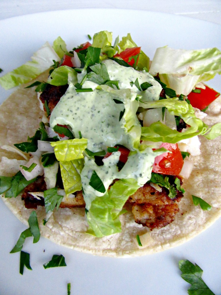 Fish Tacos With Cilantro Jalapeno Sauce