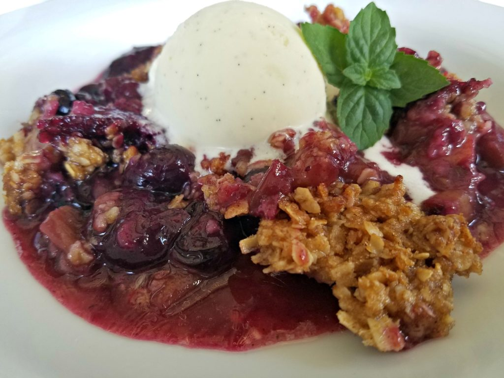 Blueberry Rhubarb Cobbler – Double Your Pleasure For Dessert