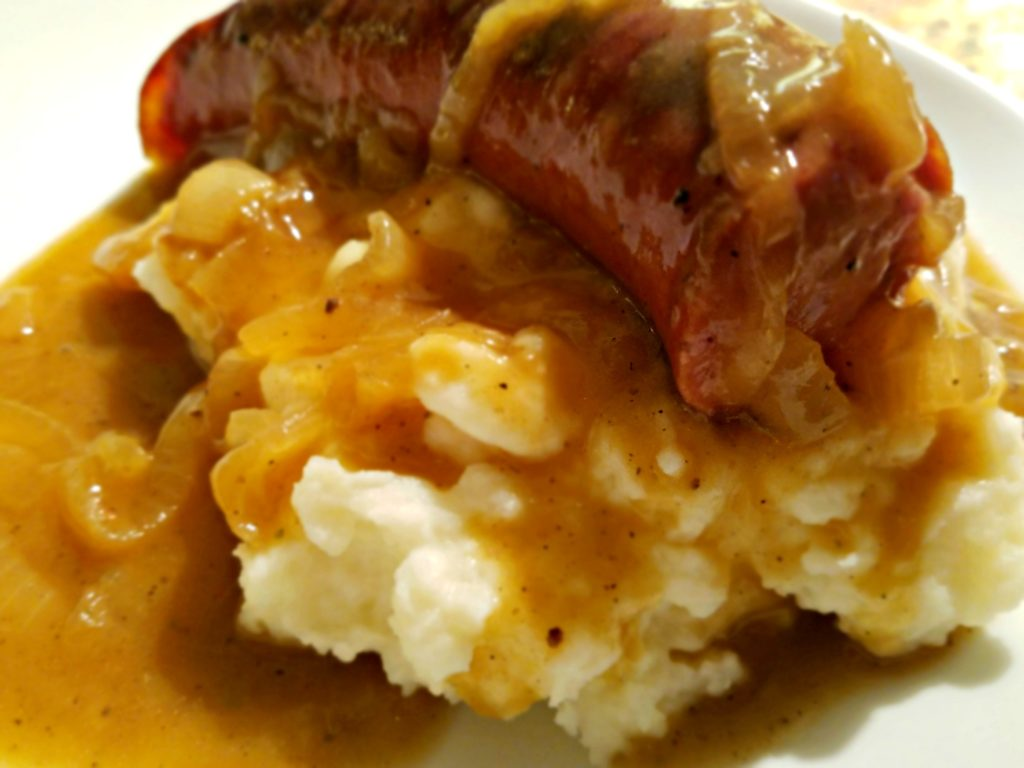 Bangers And Mash…My Irish Eyes Were Smiling!