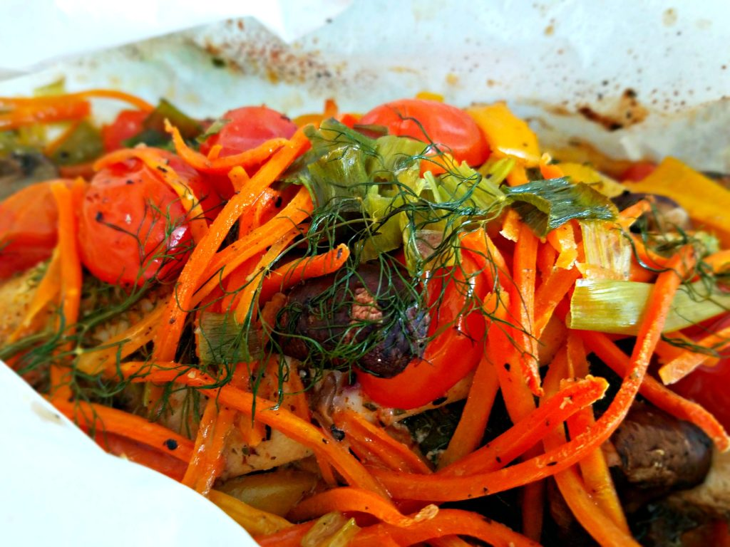 Chicken And Vegetables In Parchment Paper…Unwrap A Delicious Dinner