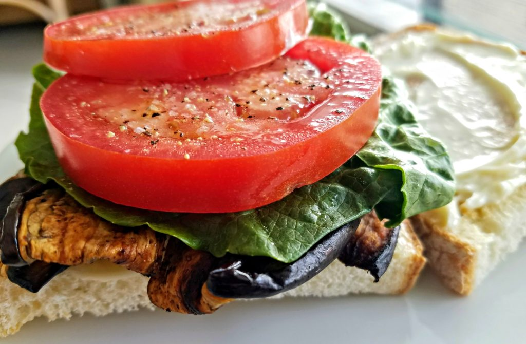 """A Vegetarian BLT – Turning Eggplant Into """"Bacon"""""""